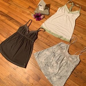 Bundle of 3 Abercrombie baby doll tank tops